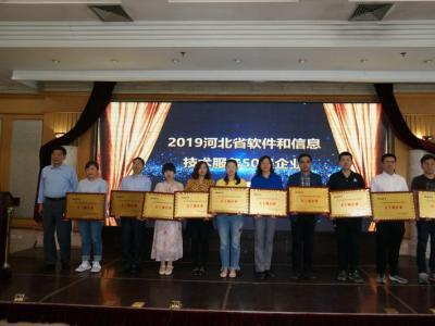 """金迪公司荣获""""2019河北省软件和信息技术服务五十强企业""""称号"""